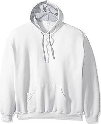 Fruit Of The Loom Mens Hooded Sweatshirt,White,XXX-Large
