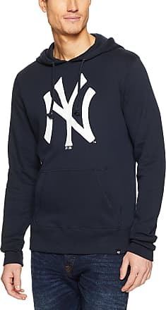 47 Brand 47 MLB New York Yankees Imprint HEADLINE Hood - Brushed Fleece Hoodie Polycotton Blend - Distressed Print Officially Licensed Premium Quality Design a