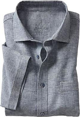 Hempage Hanfhemd mit Bio Baumwolle, blau-meliert
