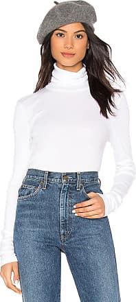 Splendid Classic Turtleneck Top in White