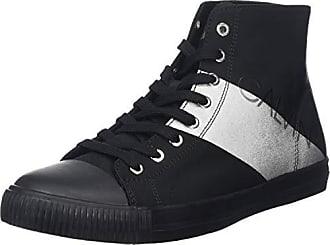 077bf0b8f107a1 Calvin Klein Jeans Antani Nylon/Metal Film, Sneaker a Collo Alto Uomo, Nero