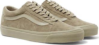Vans Og Old Skool Lx Leather-trimmed Suede Sneakers - Taupe