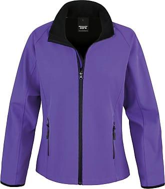 Result Core Womans Printable Softshell Jacket - 6 Colours - Purple/Black - 2XL