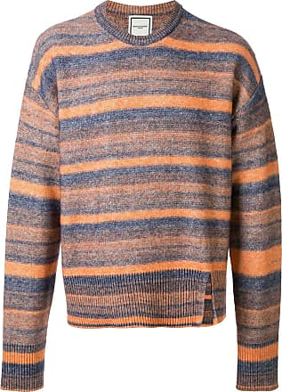 Wooyoungmi Suéter de tricô com listras - Laranja