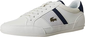 Lacoste Mens Chaymon 120 4 CMA Trainers, White (Off Wht/NVY Wn1), 10.5 UK