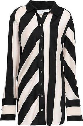 78029aa9112fee Marques Almeida Marques Almeida Woman Oversized Striped Cotton And Silk-blend  Shirt Off-white