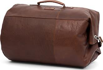 Lucléon Borsa da viaggio Montreal classica in pelle marrone chiaro 6a680905277