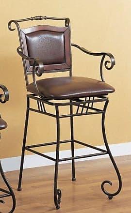 Coaster Fine Furniture Coaster Home Furnishings CO-100159 Coaster 100159 Swivel Barstool 29 Inch Dark Metal Frame Padded Seat Brown