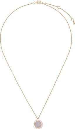 Astley Clarke Colar Luna banhado a ouro rosê 18k com safiras e ágata - Metálico