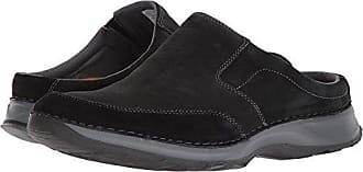 Rockport Mens RocSports Lite Five Clog Shoe, black leather, 7 W US
