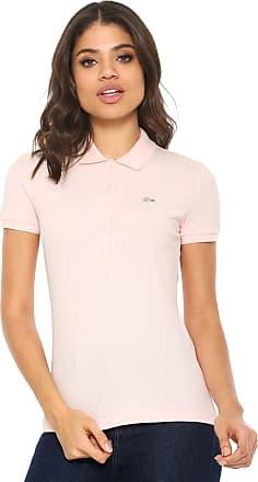 aeddbaec7c834 Lacoste Camisa Polo Lacoste Logo Rosa