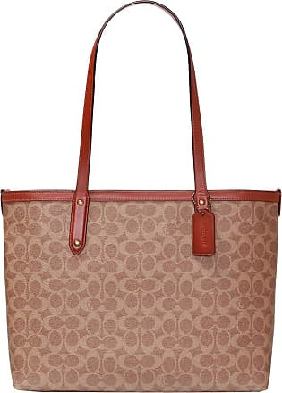 Coach Logo-printed Tote Bag Womens Brown