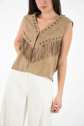 Drome Suede Vest with Studs and Fringes size Xs