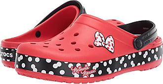 Crocs Crocband Minnie Dots Clog (Flame) Womens Clog/Mule Shoes