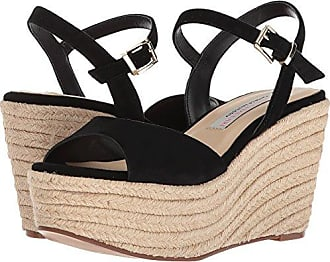 9d363d4948ad Chinese Laundry Womens Brandie Espadrille Wedge Sandal Black Suede 6.5 M US