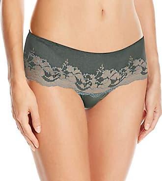 Wacoal Womens Lace Affair Tanga Panty, Balsam Green/Slate, XL