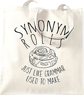 Tim And Ted Synonym Rolls Tote Bag Just Like Grammar Used To Make - (White/One Size)
