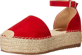 Yoki Womens SUE Flat Sandal, Red, 6.5 UK
