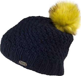 KuSan Moss Yarn Bobble Hat - Navy Blue 1-Size