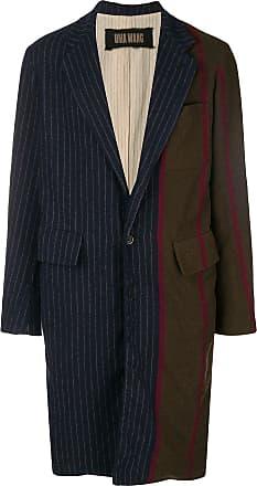 Uma Wang patchwork-effect coat - Blue