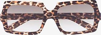 Acne Studios Womens Brown George Leopard Print Sunglasses
