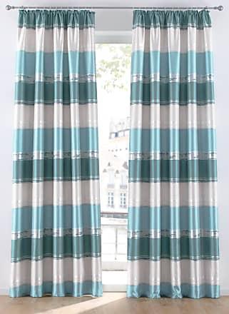 Bonprix Jacquard Vorhang mit Querstreifen (1er Pack) grün, bonprix