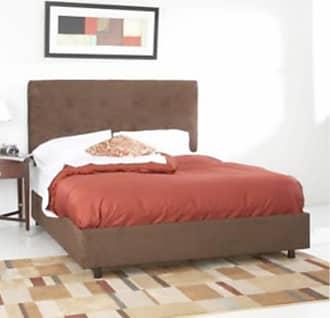 Skyline Furniture 790 Series Low Profile Upholstered Bed Velvet-Aubergine Purple, Size: Queen - 792BED-Q-VELVT-AUBRG
