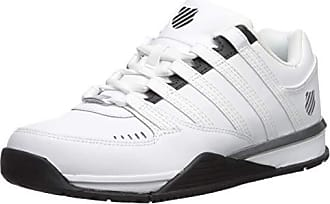 best service 5babd c57c3 K-Swiss Baxter, Sneakers Basses Homme, Blanc (White Black Silver