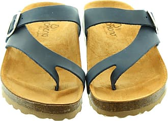 6b110e79e5b Yokono Ladies Mabul013 Toe Loop Sandals In Navy