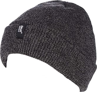 Heat Holders Mens 1 Pack Turn Over Cuff Thermal Hat One Size Charcoal
