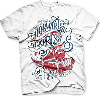 Harry Potter Officially Licensed All Aboard The Hogwarts Express Mens T-Shirt (White), Small