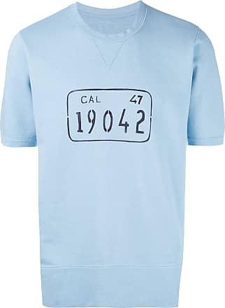 Visvim Camiseta com estampa gráfica - Azul