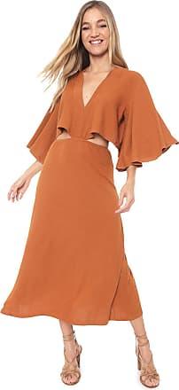 Dress To Vestido Dress to Midi Canelado Caramelo
