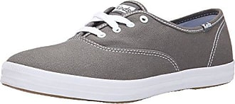 Keds Womens Champion Core Canvas Sneaker, Grey, 13 M US