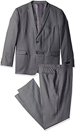 U.S.Polo Association Mens Big and Tall Linen Suit, Grey, 52 Long