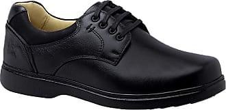 Doctor Shoes Antistaffa Sapato Masculino Especial Neuroma de Morton em Couro Floater Preto 416 Doctor Shoes-Preto-39