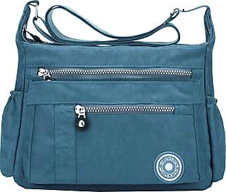 GFM Womens Nylon Cross Body Shoulder Bag (88)(Style 1-6046-TLNL)