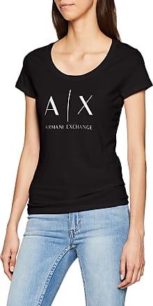 A X Armani Exchange Womens Logo Ss T-Shirt, Black (Black 1200), X-Small