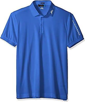J.Lindeberg Mens Tour Tech Tx Jersey Polo Shirt, Daze Blue, Large 8b618969fd