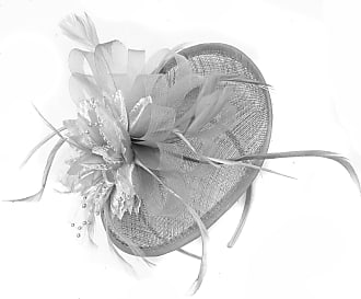 Caprilite Silver Grey Sinamay Disc Saucer Fascinator Hat for Women Weddings Headband Races