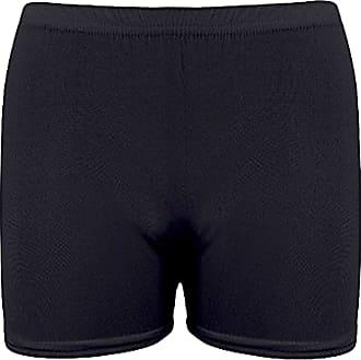Momo & Ayat Fashions Ladies Viscose Stretch Microfibre Hot Pants Shorts UK Size 8-18 (L/XL (UK 16-18), Black)