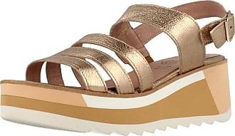 Wonders Women Sandals and Slippers Women D7812 Gold 6 UK
