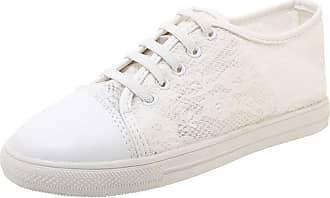 RAZAMAZA Nonbrand DunaCuna Women Comfort School Shoes Plimsolls Low Top Sneakers Slip on Round Toe Walking Shoes Mesh White Size 45 Asian