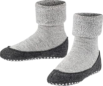 Falke Unisex Kinder Cosyshoe K SO Slipper Sock, Grey (Light Grey 3400), UK 12.5-13 (7-8 Years)