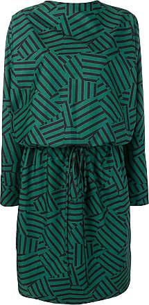 Plan C Vestido com estampa geométrica - Verde