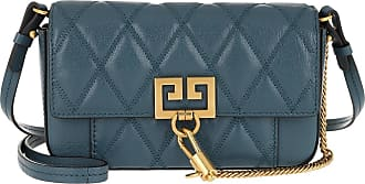 Givenchy Mini Pocket Bag Diamond Quilted Leather Oil Blue Umhängetasche teal-cyan