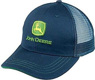 Charcoal John Deere Men/'s Vintage Tractor Mesh Back Cap One Size