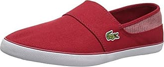 Lacoste Mens Marice Sneaker, red Canvas, 13 Medium US