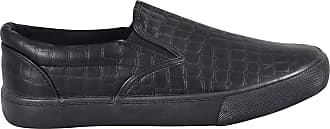 True Face Mens Espadrille Flat Plimsoll Lace up Trainer Shoes (UK 10/EU 44, Clive - Black)