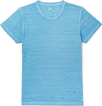 120% CASHMERE Slim-fit Garment-dyed Linen T-shirt - Blue